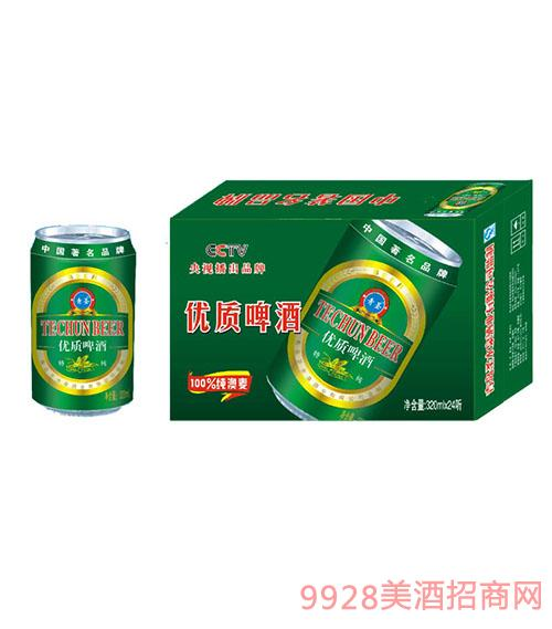 特純320ml易拉罐啤酒