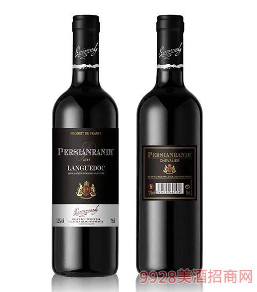法国波斯兰迪骑士红葡萄酒12度750ml