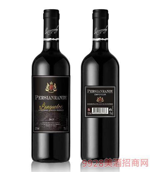 法国波斯兰迪皇爵红葡萄酒12.5度750ml