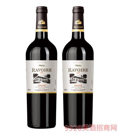 法国哈瓦伦庄园干红葡萄酒14度750ml