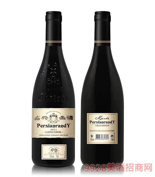 法国波斯兰迪古庄葡萄酒13度750ml