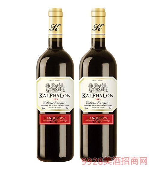 卡富莱赤霞珠干红葡萄酒2013-13度750ml