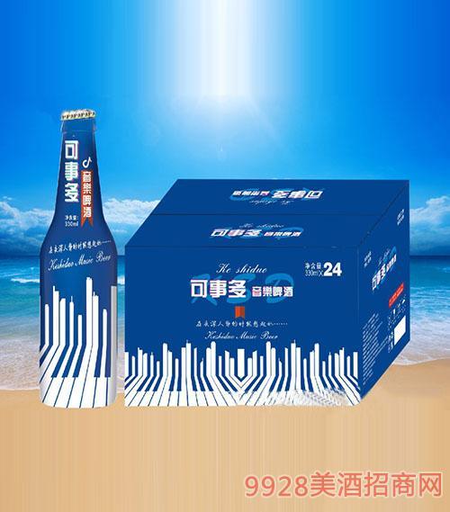 可事多音乐啤酒蓝瓶330ml×24瓶