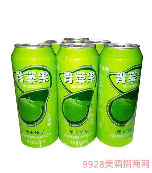 汉斯爽动青苹果味碳酸饮料