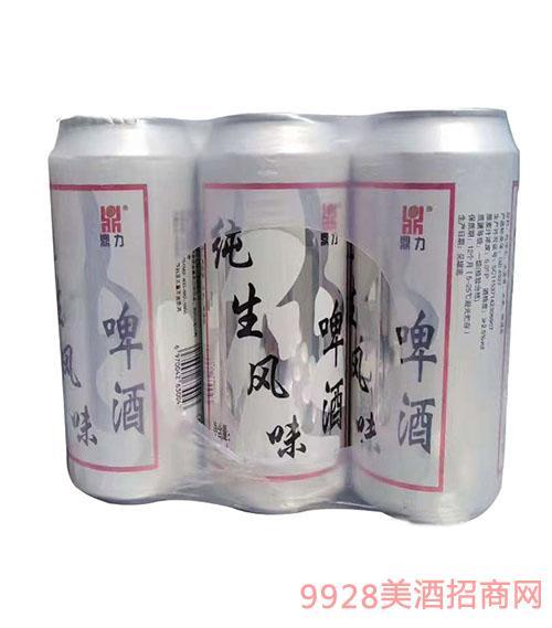 青倫鼎力純生風味易拉罐啤酒