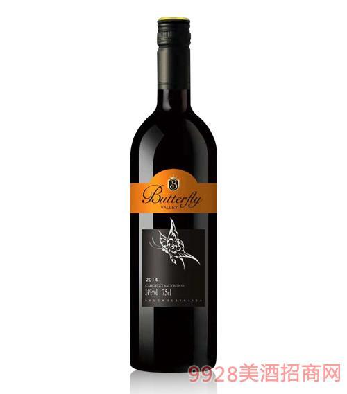 澳大利亚蝴蝶谷酒庄干红葡萄酒14度750ml
