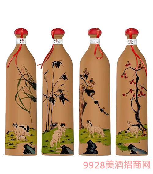 梅�m竹菊酒