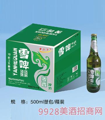 雪啤麦香啤酒500ml