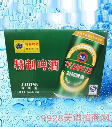 蓝豪特制啤酒500ml×12罐