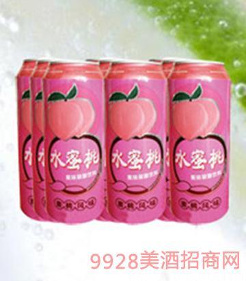 海润德水蜜桃果味饮料500ml×9罐