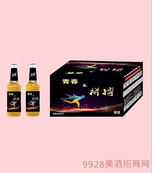 拼搏青春啤酒500mlX12白瓶