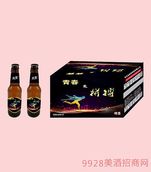 拼搏青春啤酒500ml棕瓶X12
