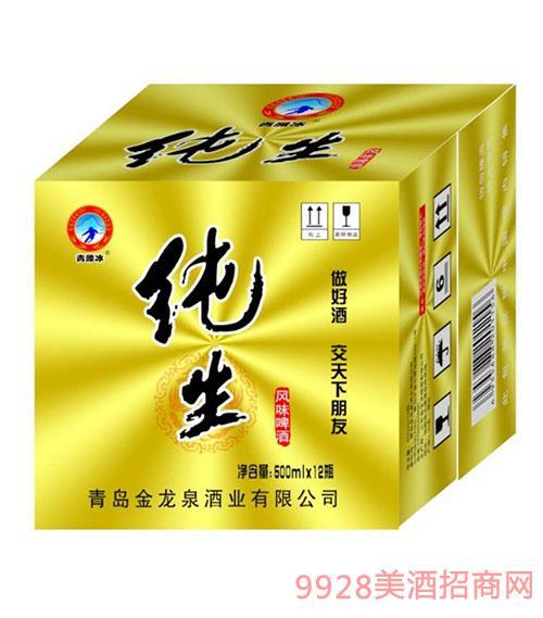 青潍冰纯生风味啤酒500mlx12