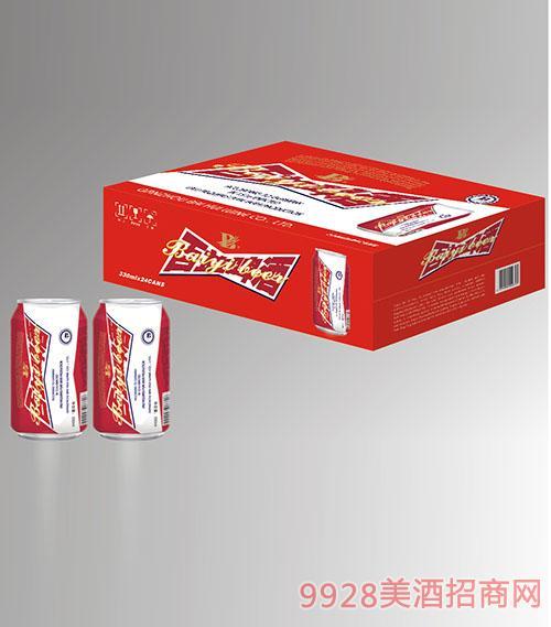 10度红百益啤酒330mlx24