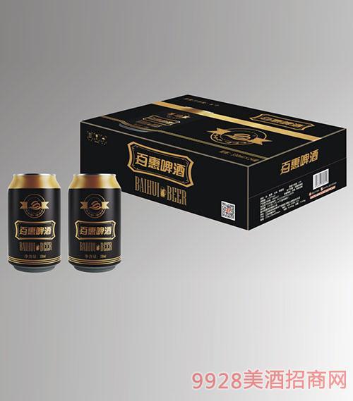 8度黑罐百惠啤酒330mlx24