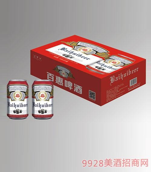 10度红罐百惠啤酒330mlx24