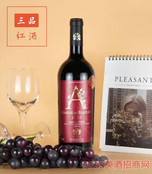 法国卡蕾干红葡萄酒