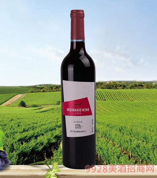 红魔H1赤霞珠甜红葡萄酒
