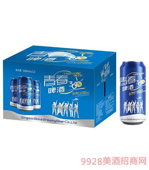 青春360啤酒500mlx12