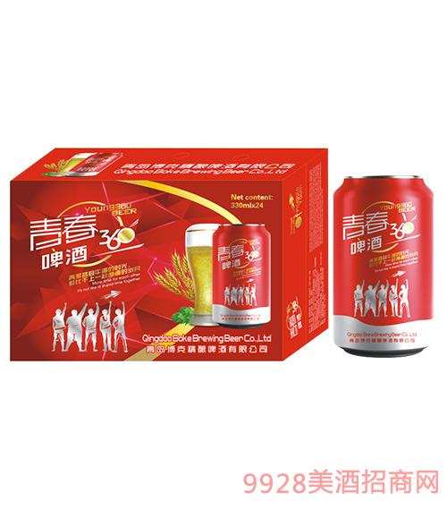 青春360啤酒330mlx24