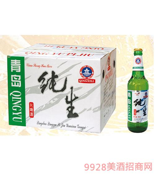 青雨590ml老纯生啤酒