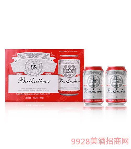 10度百惠至尊红罐啤酒330mlx24
