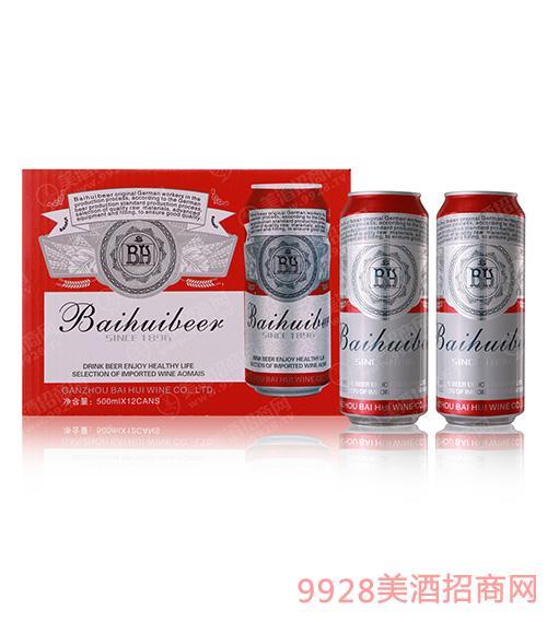 10度百惠至尊红罐啤酒500mlx12