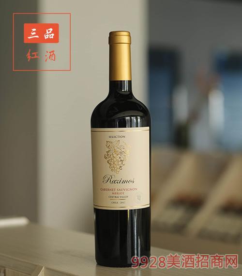 智利精选赤霞珠梅洛混酿葡萄酒