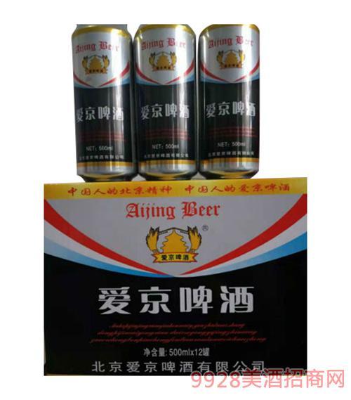 爱京啤酒黑白罐500mlx12