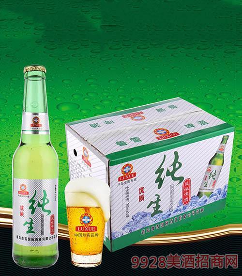 鲁雪优质纯生啤酒330ml(箱)