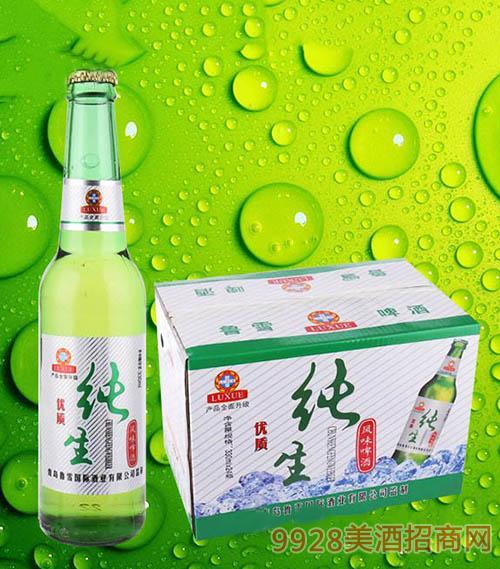 鲁雪优质纯生啤酒330ml×24瓶