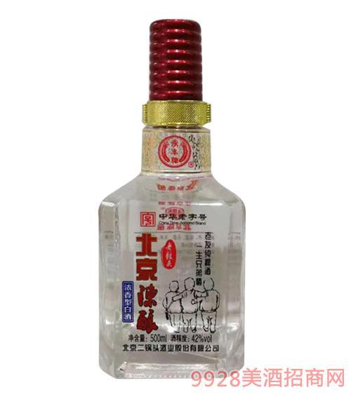 老粮头北京陈酿白酒42度500ml