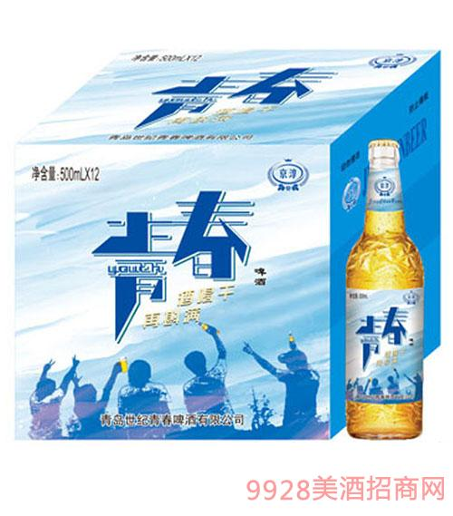 京淳啤酒青春500mlX12瓶