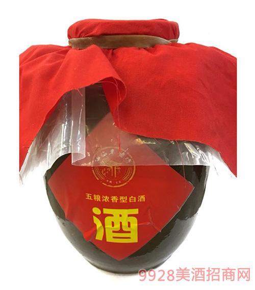 坛子酒五粮浓香型白酒