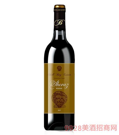 贝壳湾珍藏级西拉干红葡萄酒