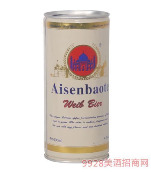 爱森堡特啤酒白罐1L