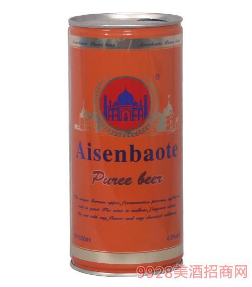 爱森堡特啤酒橘色罐1L