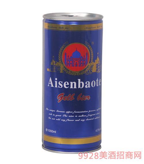 爱森堡特啤酒蓝罐1L