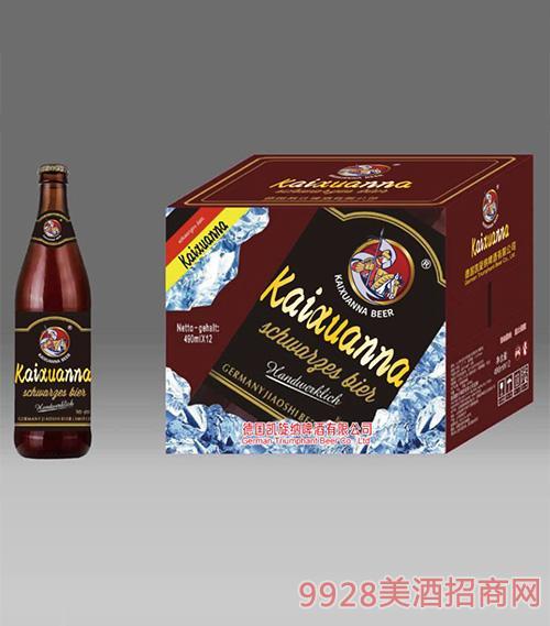 凯旋纳精酿黑啤酒490mlx12