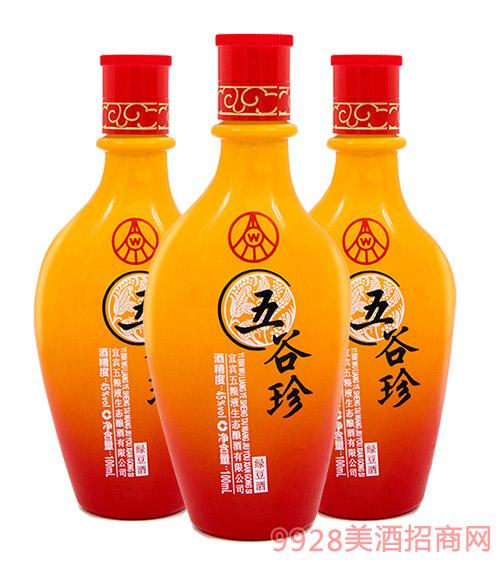 五谷珍�G豆酒45度100ml