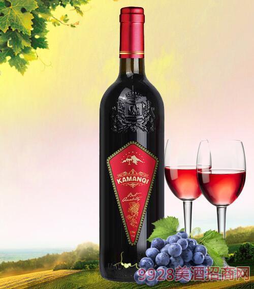 卡曼琪干红葡萄酒红标750ml