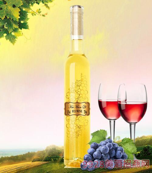 卡曼琪水晶冰白葡萄酒15度750ml