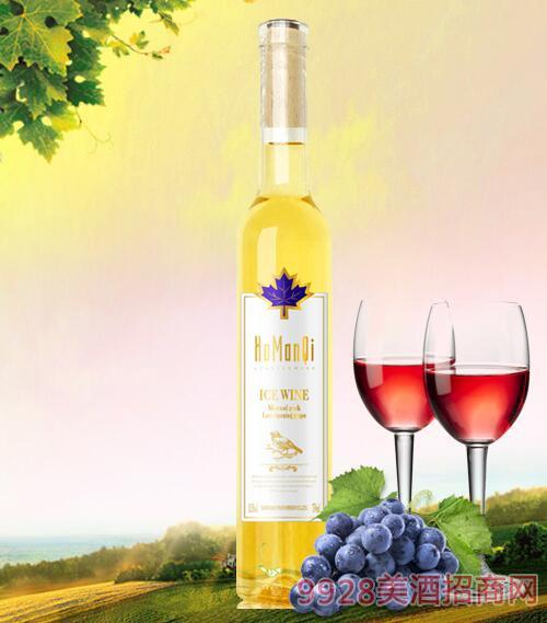 卡曼琪水晶冰白葡萄酒15度750ml枫叶
