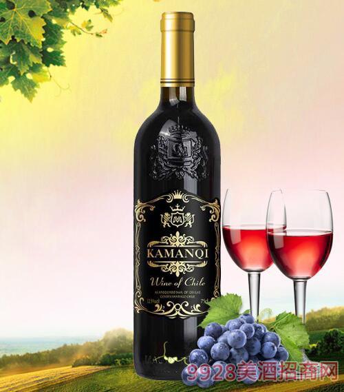 卡曼琪干红葡萄酒黑标12.5度750ml