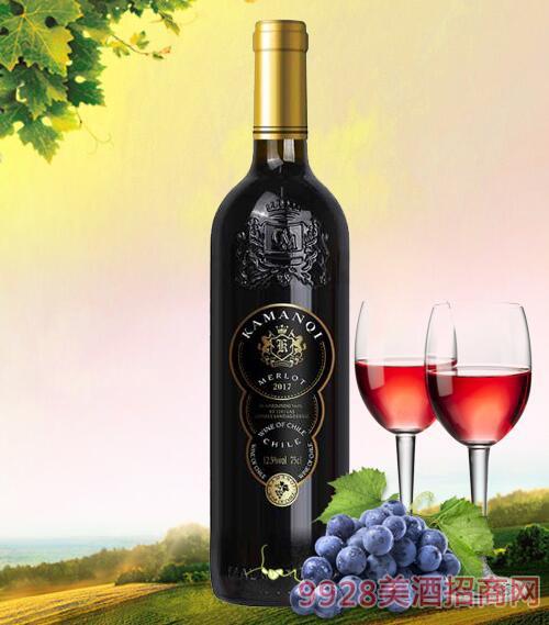卡曼琪干红葡萄酒黑标750ml