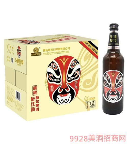 004醉红颜原浆脸谱啤酒490mlx12