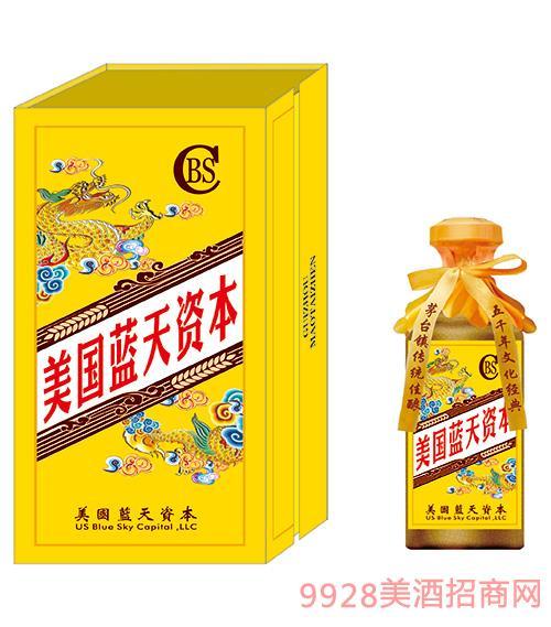企业定制酒-蓝天资本龙纹礼盒
