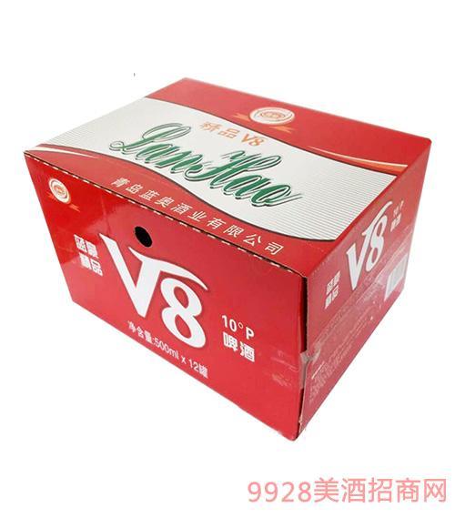 精品V8啤酒500mlx12罐