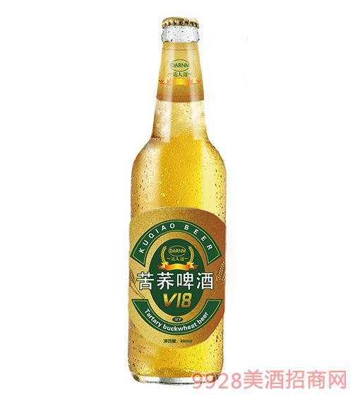 达人迈苦荞啤酒480ML黄标