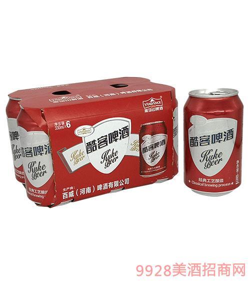 百威雁蕩山啤酒酷客啤酒330mlx6